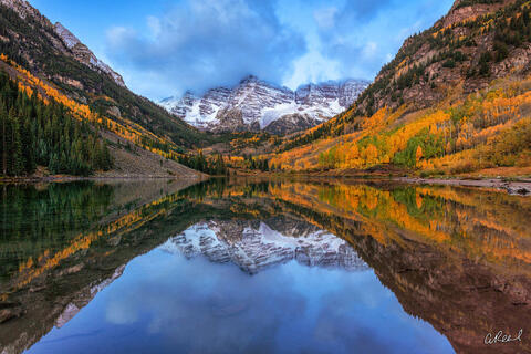 Aspen, Colorado, Maroon Bells, Mountains, Autumn, Fall, Fine Art, Limited Edition,