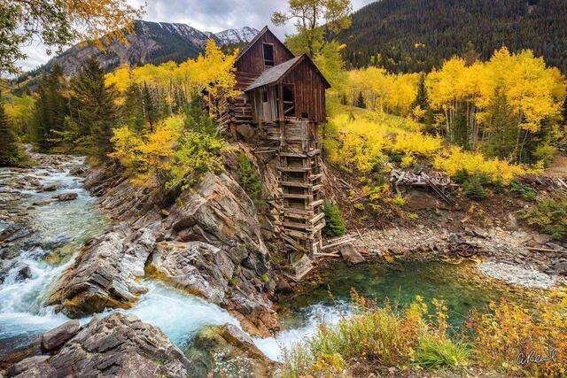 Crystal Mill, Wood Mill, Colorado, Carbondale, Marble, Fine Art, Limited Edition