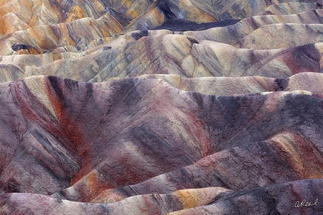 Death Valley, Fine Art,  Erosion, Mud, Color Bleed, California, National Park