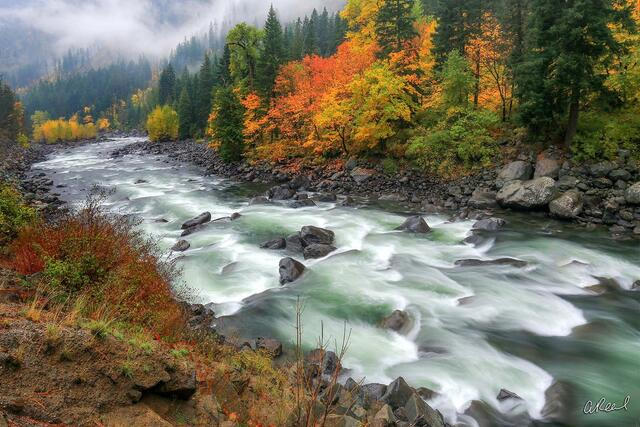 Leavenworth, Tumwater, Canyon, Fall Color, Washington
