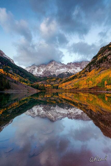 Aspen, Colorado, Maroon Bells, Snowmass, Fine Art, Limited Edition, Autumn, Reflection