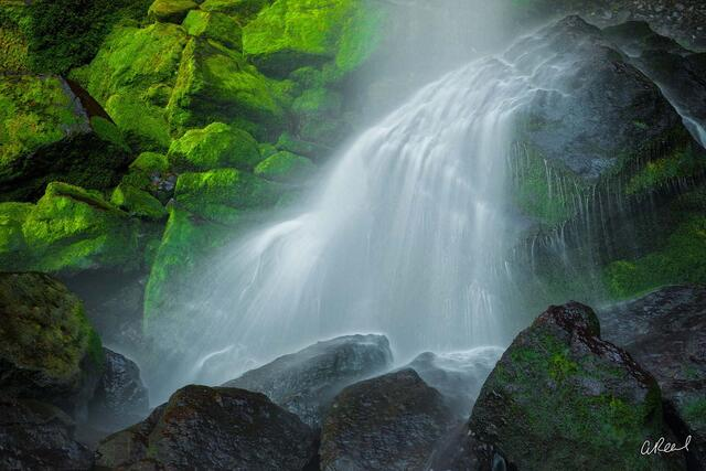 Elowah, Waterfall, Abstract, Fine Art, Limited Edition, Columbia River Gorge, Oregon,