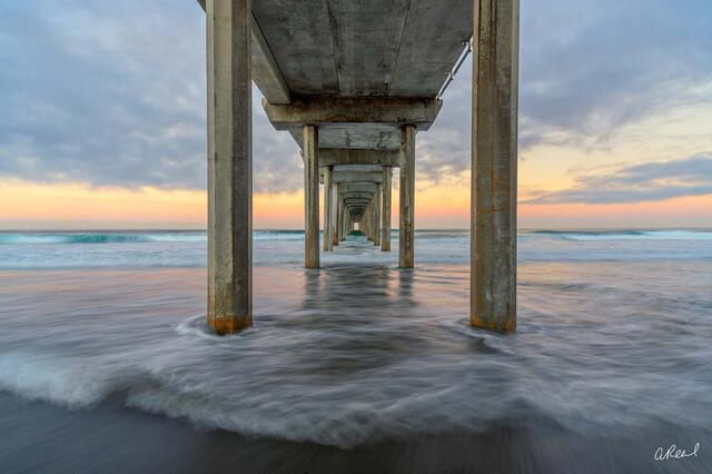 Scripps Pier In La Jolla, California.