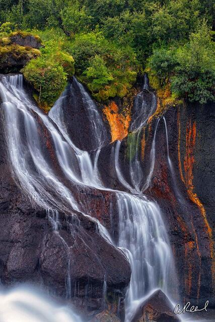 Hraunfossar, Iceland, Waterfall, Ribbons, Island, Fine Art, Limited Edition,
