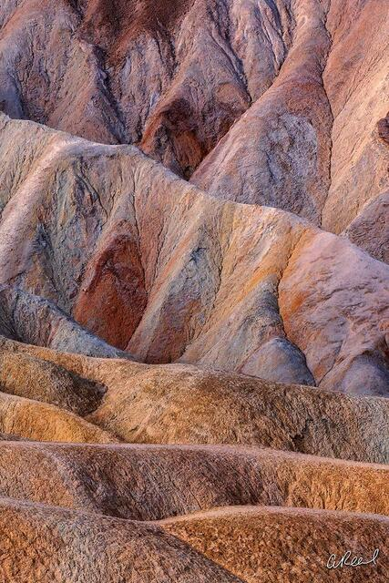 Zabriskie Point, Death Valley, Mud, Sediment, Abstract, Salt, Water, Erosion, Fine Art, Limited Edition, Geology, California, Volcanic,