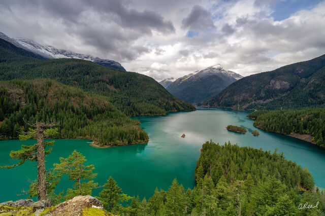 Washington, Lake, Diablo, North Cascades National Park,