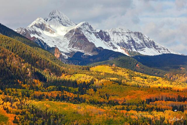 Telluride, Colorado, Mt Wilson, Autumn, Trees, Snow, Fine Art, Light, Limited Edition