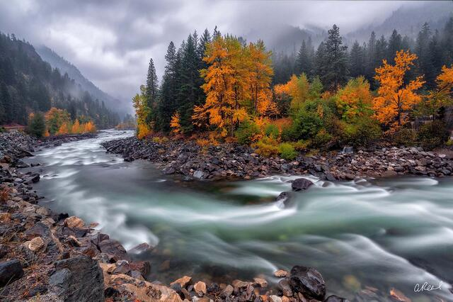Wenatchee River Tumbles Through Tumwater Canyon.