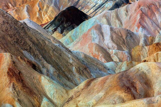 Death Valley, Fine Art, Limited Edition, Abstract, Zabriskie, California, Erosion, Sediment, Earth, National Park,