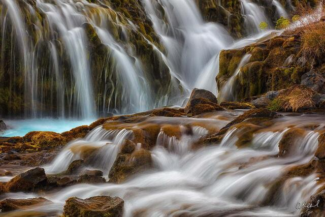 The Staircase | Waterfalls Naturally Positioned in a Manner That Resembles a Staircase | Fine Art Photography for Sale by Aaron Reed