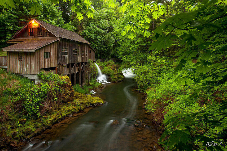 Woodland, Washington, Grist, Mill, Fine Art, Limited Edition, Historic, Cedar Creek,