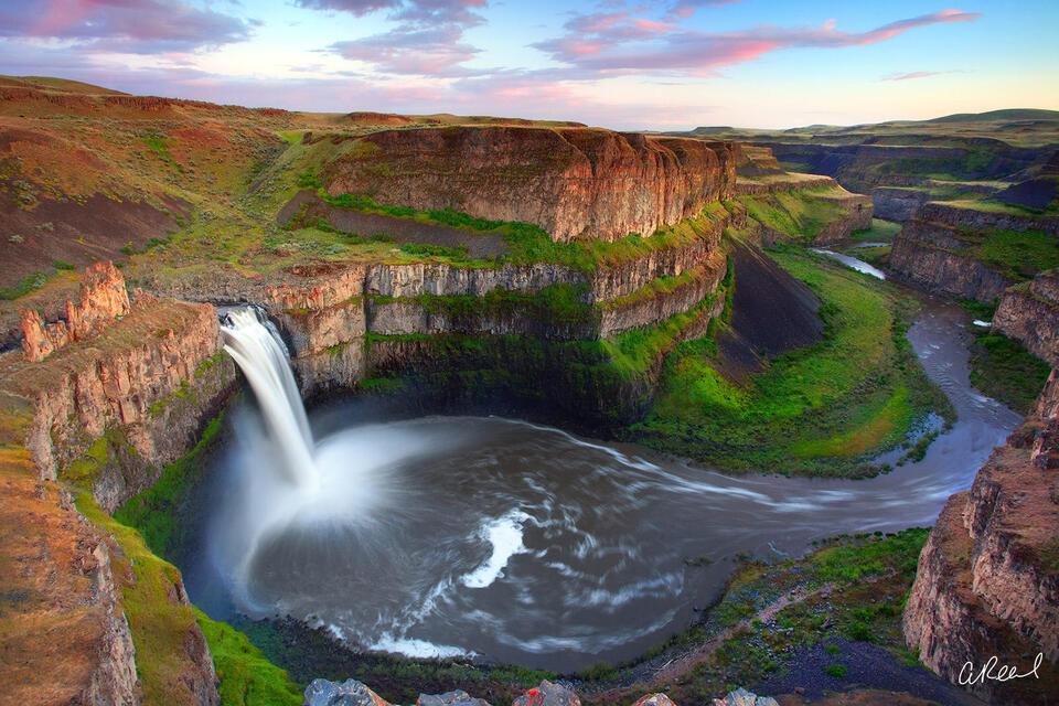 Palouse, Falls, Waterfall, Washington, State Park, Fine Art, Limited Edition,