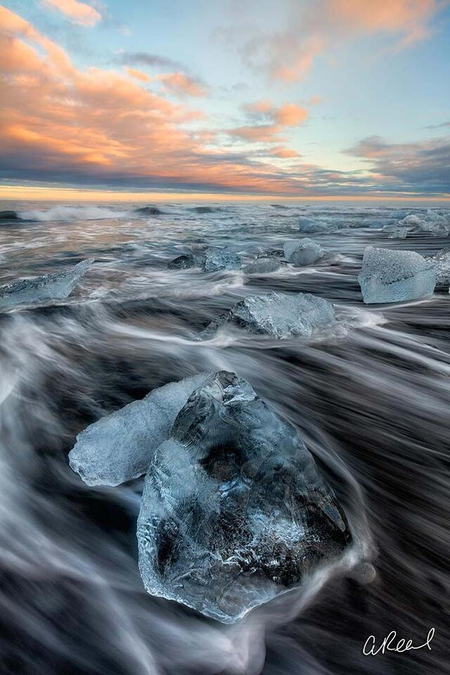 Jökulsárlón, Iceland, Fine Art, Limited Edition, Oceans, Glacier, Ice, Floating, Sea, Waves,