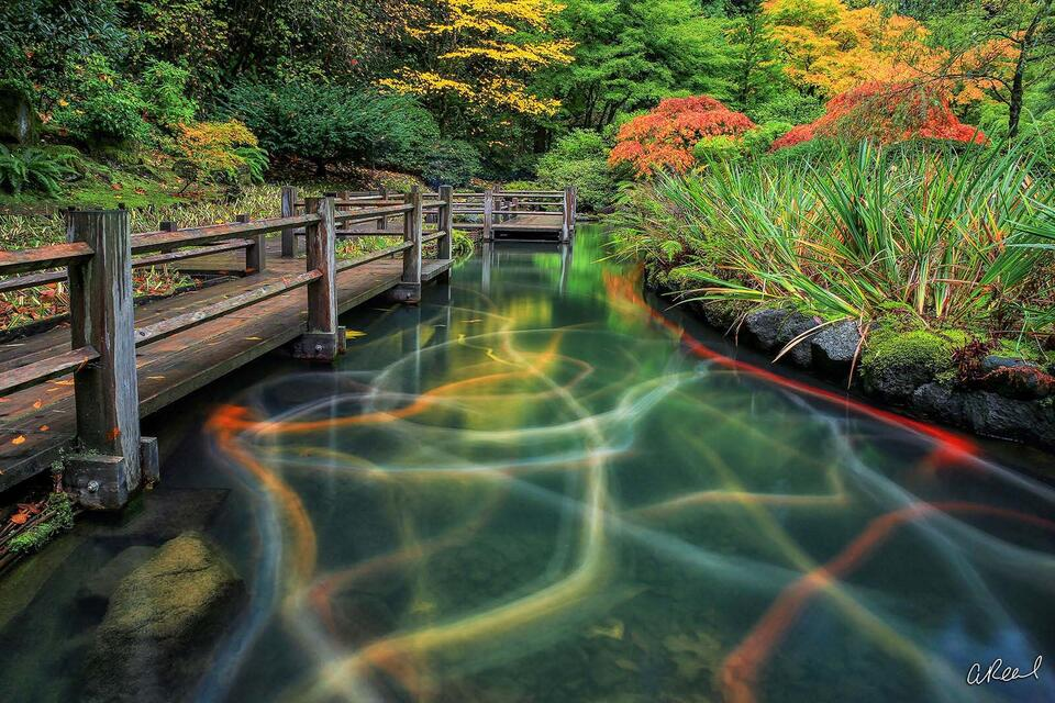 apanese Garden, Portland, Oregon, Time, Fine Art, Limited Edition, Landscape, abstract
