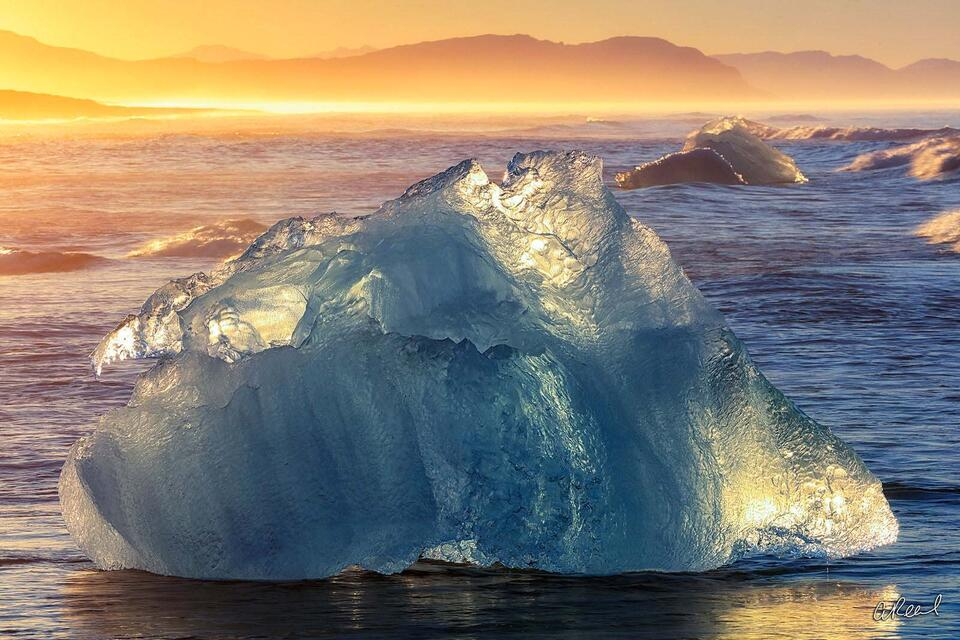 Light, Sunlight, Fine Art, Limited Edition, 	Jokulsarlon, Iceland