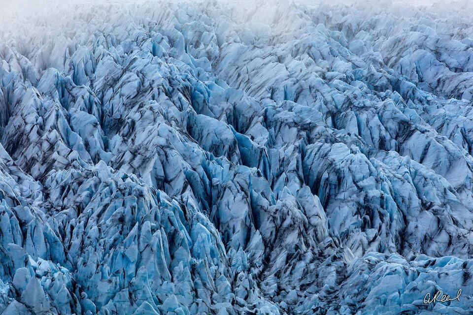 Glacier, Blue, Abstract, Iceland,