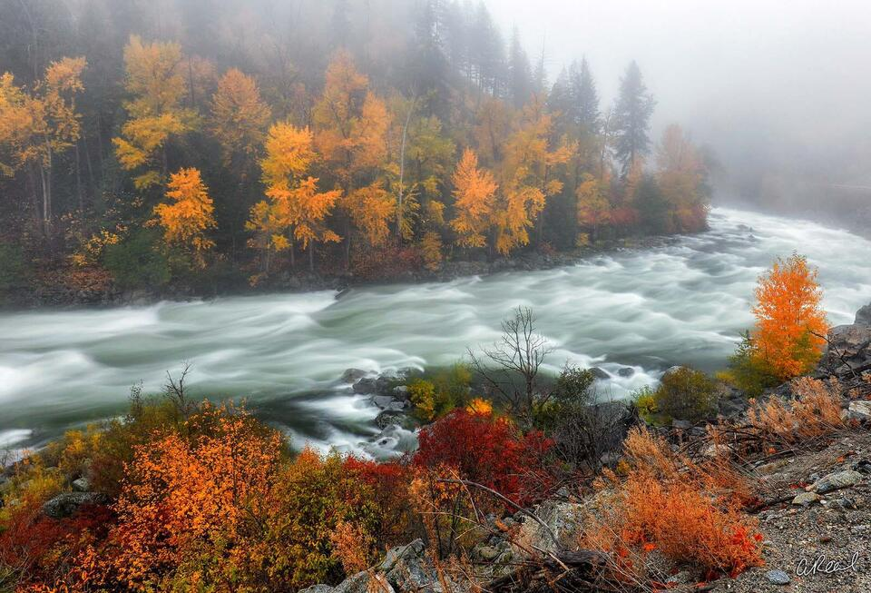 Fine Art, Limited Edition, Fog, Leavenworth, Wenatchee, River, Washington,