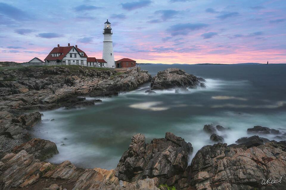 Maine, Portland, Head, Lighthouse, Sunrise, Cape Elizabeth, Fine Art, Limited Edition,