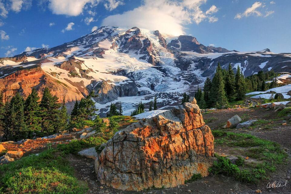 Fine Art, Limited Edition, Mt Rainier, Volcano, Dangerous, Puyallup,