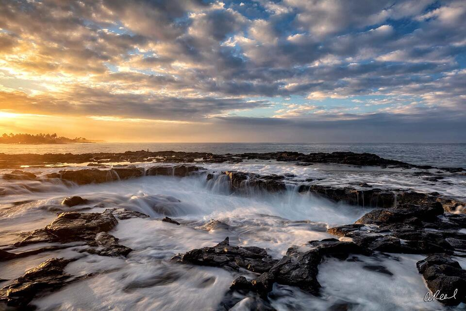 Spouting Horn, Koloa, Hawaii, Kauai, Fine Art, Ocean, Limited Edition, Sea, Coastline, Waves, Lava, Rocks,