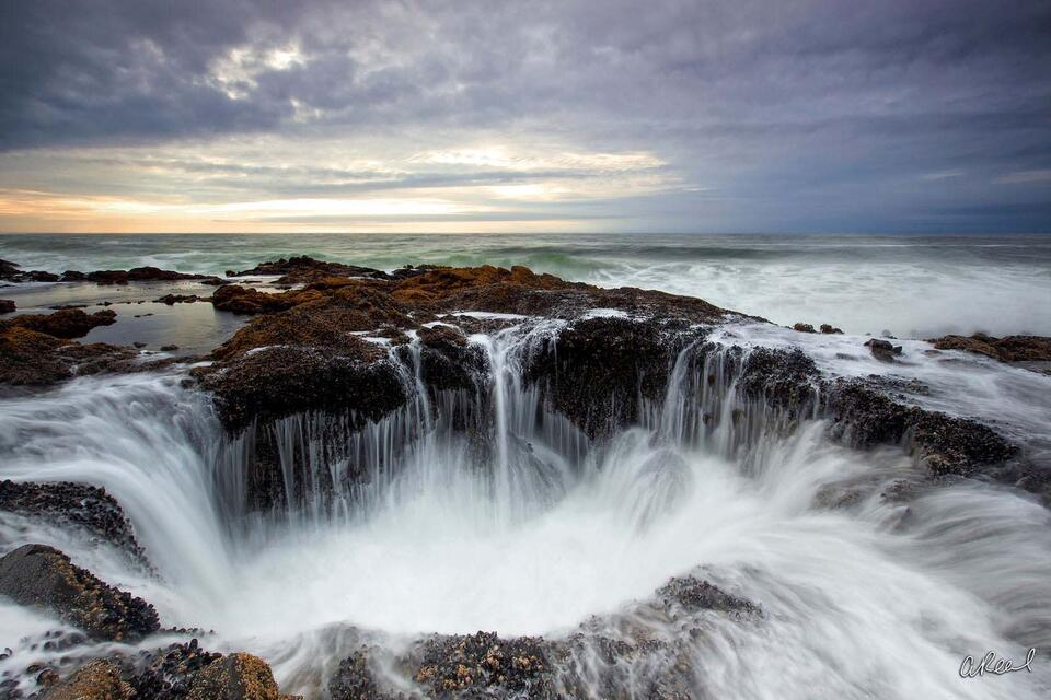 Thors Well, Cape Perpetua, Oregon, Devils Churn, Coastline, Spouting Horn, Fine Art, Limited Edition,