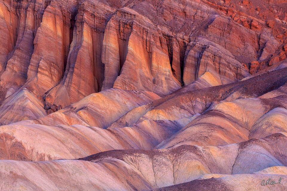 Zabriskie, Death Valley, Geology, Sediments, Black Mountain, Ancient, Fine Art, National Park,