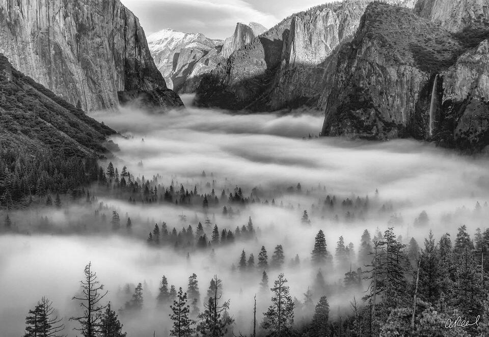 Yosemite, National Park Clouds, Fog,