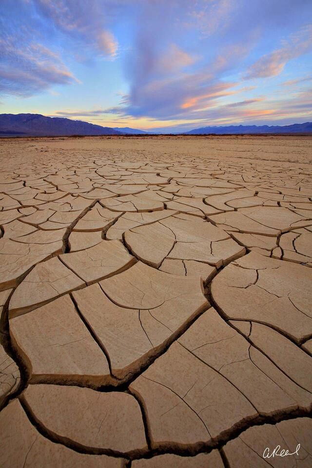Death Valley, California, Mud, Cracked, National Park, Photograph