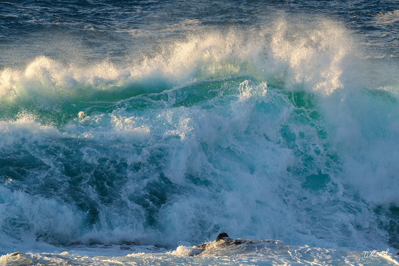 Crashing Waves At Carmel By The Sea. , photo