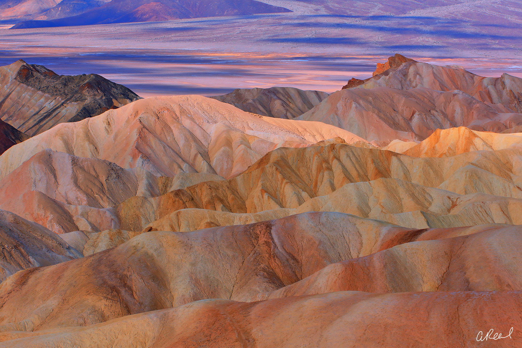 fine art, landscape, limited edition, Zabriskie Point, Death Valley, California, Wonder, photo
