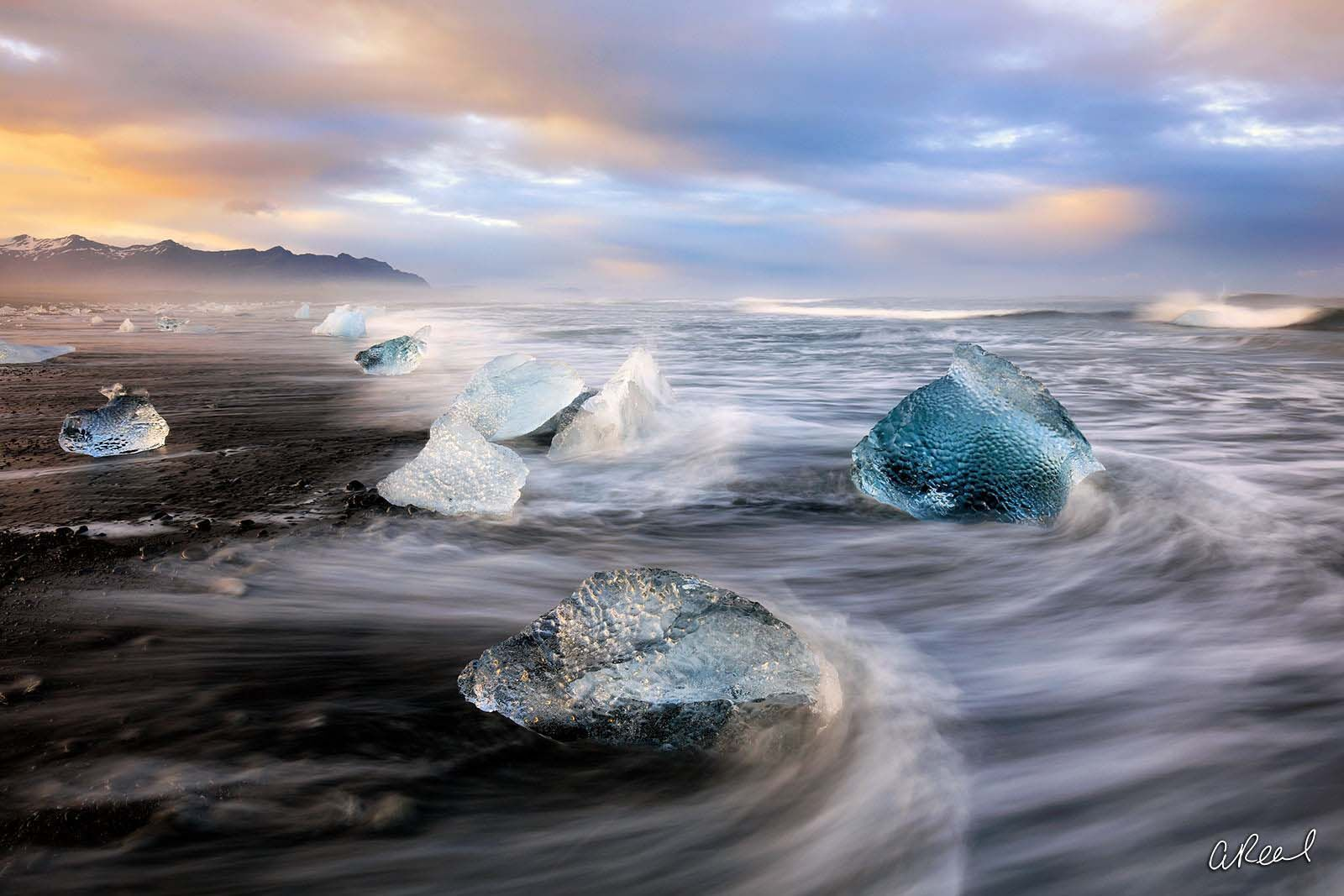 limited edition, fine art, black sand beach, Iceland, Diamonds, Iceland, , photo