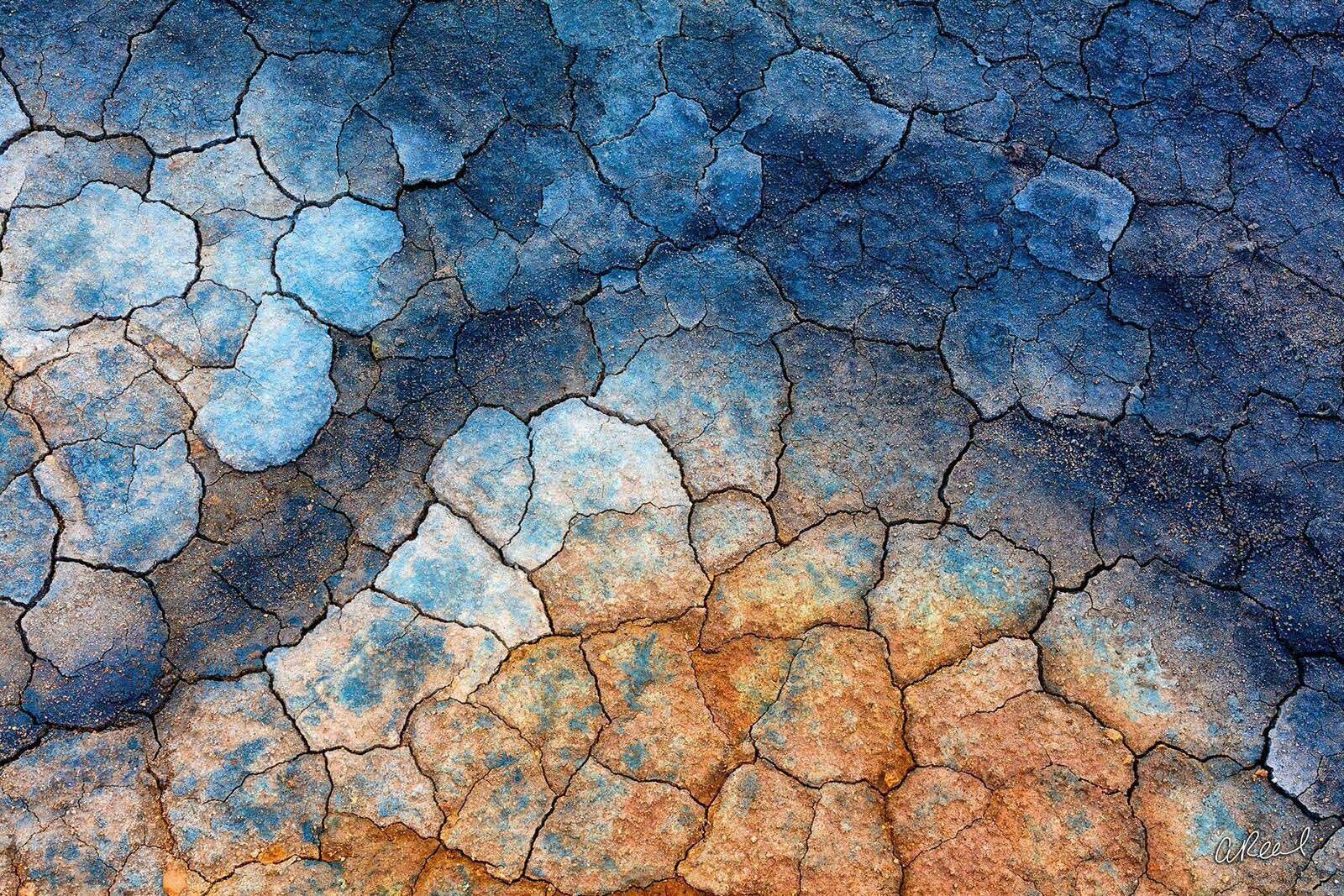 cracked, mud, Iceland, hverir, geothermal, mudcrack, fine art, limited edition, dragonskin,, photo