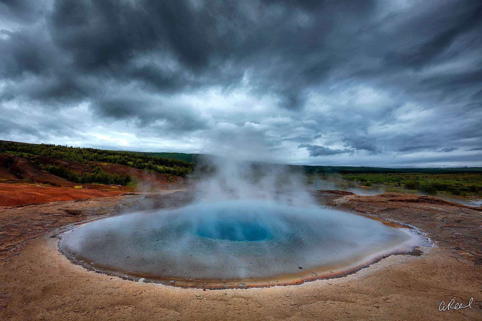 Geysir, Iceland, Storm, Eye, Blue, Eruption, Geyser, Fine Art, Limited Edition, photo