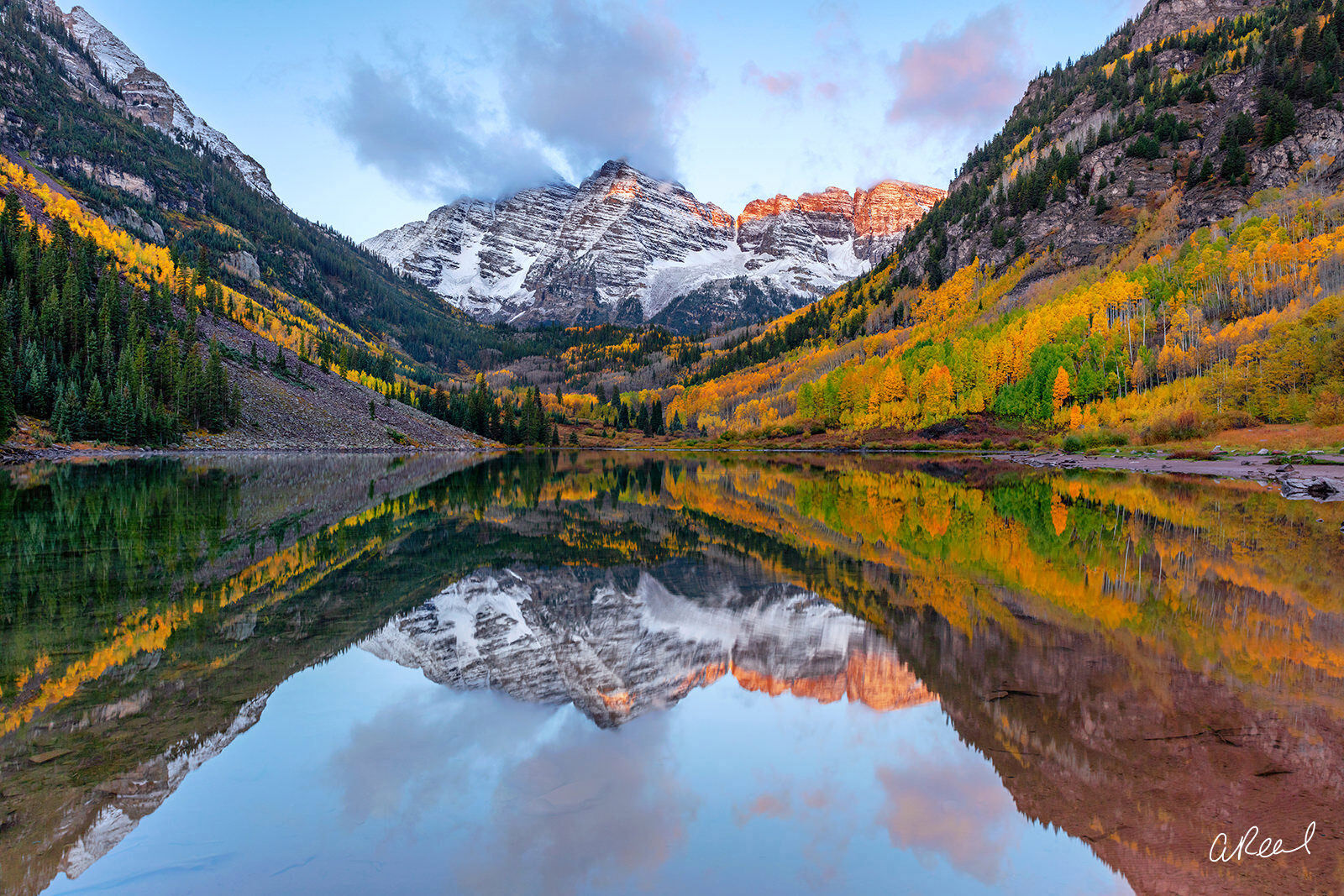 Maroon Bells, Aspen, Colorado, Reflection, Lake, Mountain, Fine Art, Limited Edition, photo