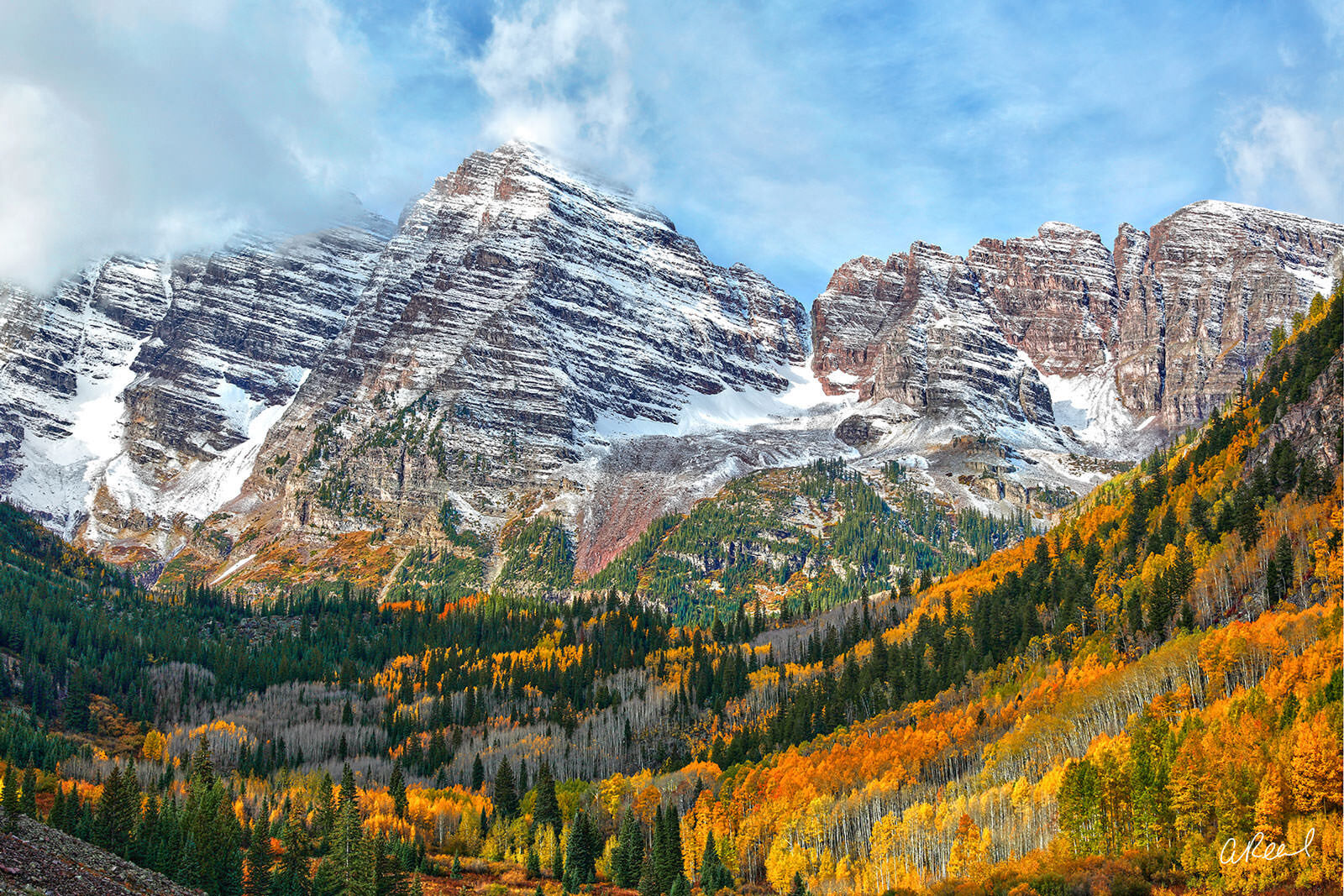 Create a window into nature with Aaron Reed's limited edition photography print, Rocky Mountain High, from his Mountains & Meadows...