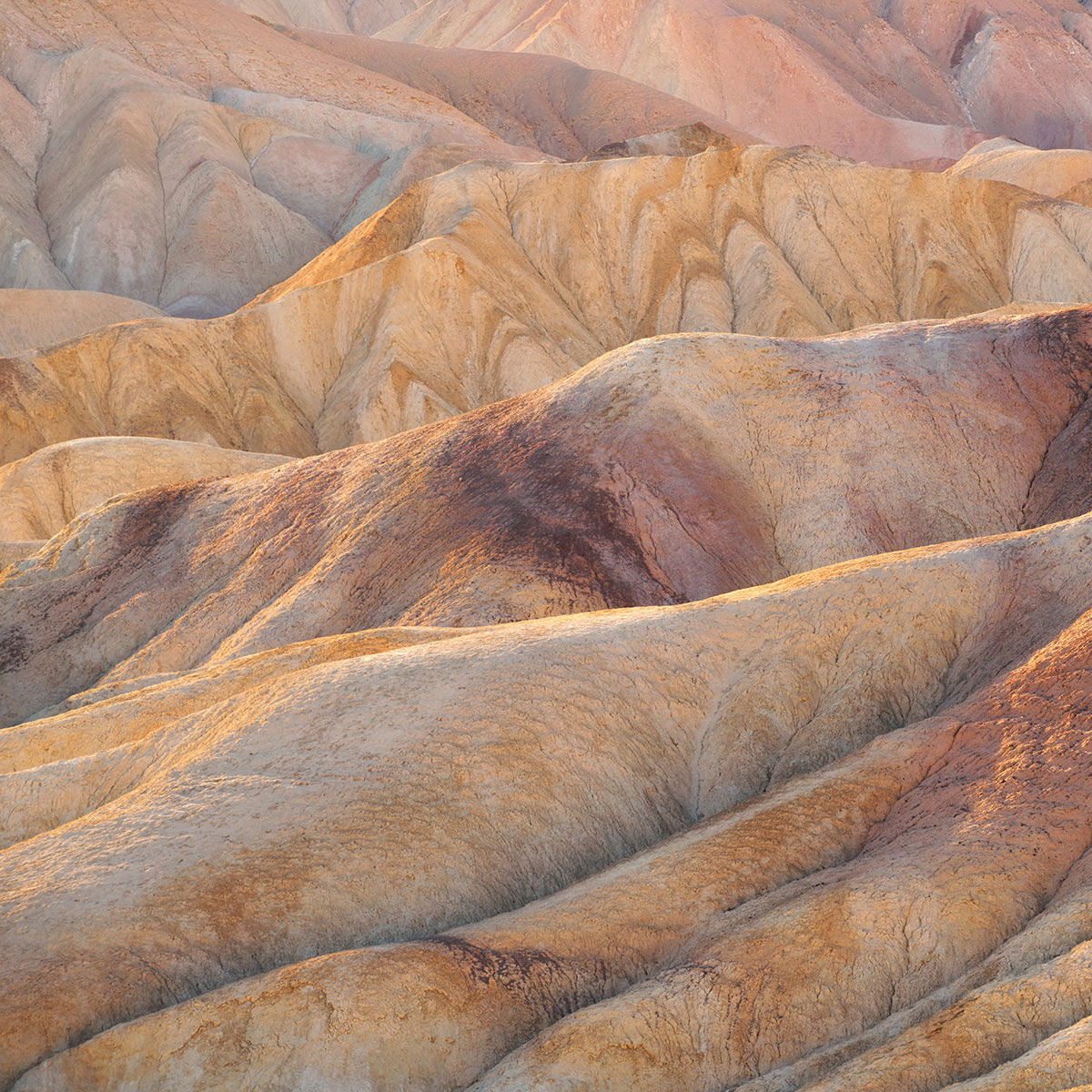 A photograph of Zabriskie Point In Death Valley National Park titled Ruffles.