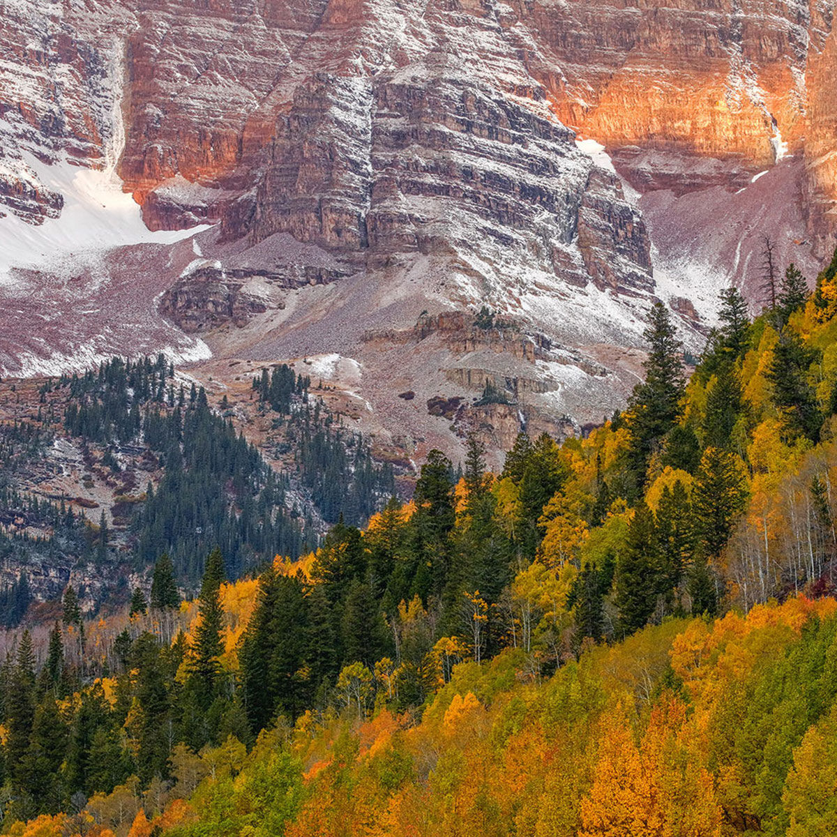 A fine art photograph of the hills of Maroon Bells in Aspen, Colorado titled Colorado Heights.