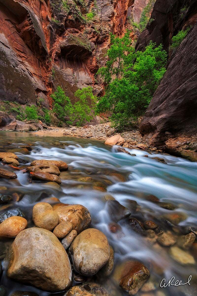 Transform your space with Aaron Reed's limited edition photography print, The Narrows, from his Vertical Luxury Photography collection...
