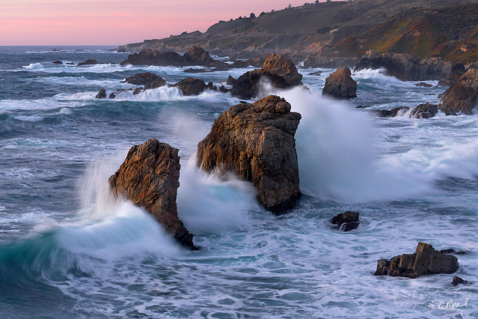 Incoming Tides In Garrapata State Park., photo