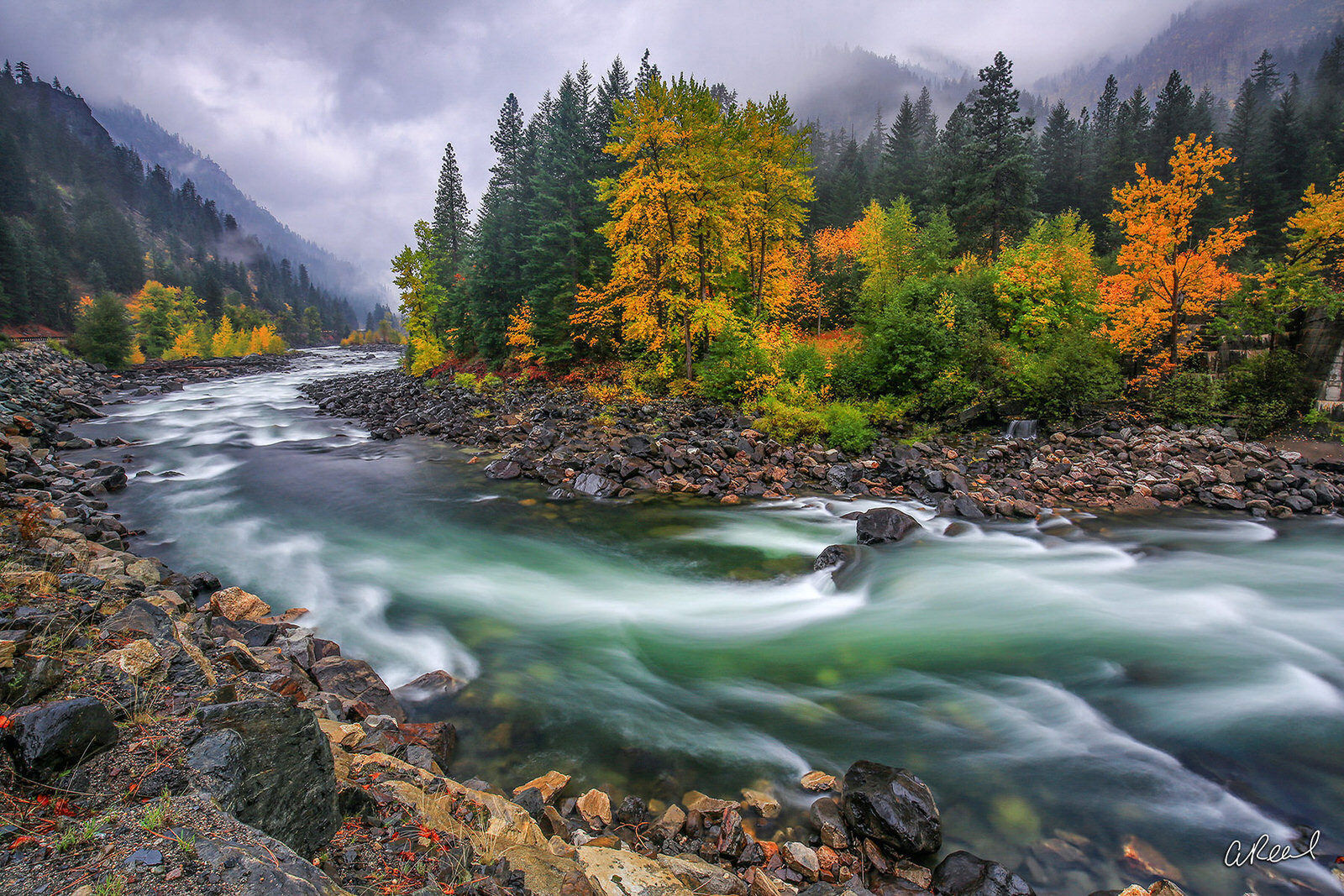 Fine Art Limited Edition of 50 - A fine art limited edition print titled Tumble Rumble Ramble photographed in Tumwater Canyon...