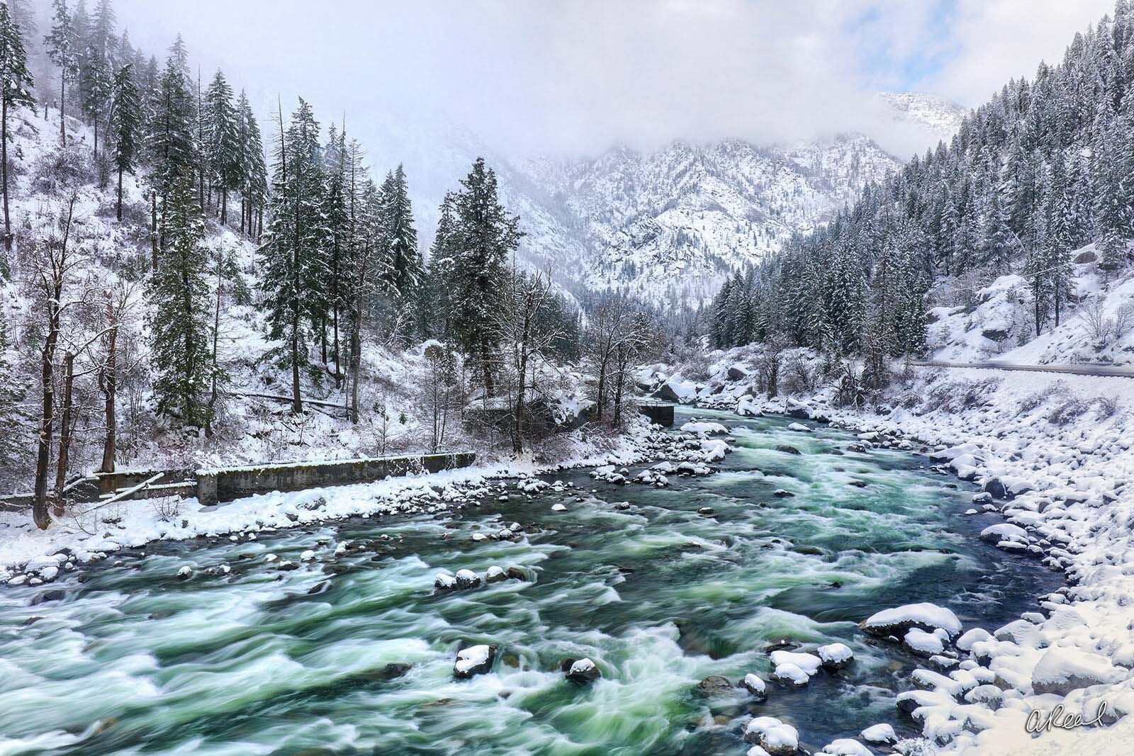 Leavenworth, Washington, Climate, Winter, Snow, Wenatchee, River, Fine Art, Limited Edition, , photo