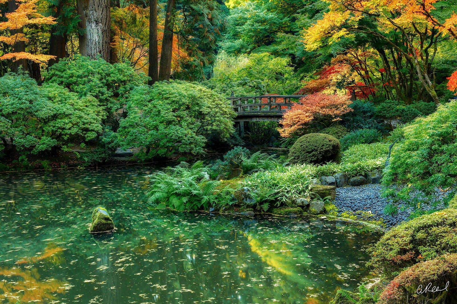 Japanese Garden, Portland, Oregon, Time, Fine Art, Limited Edition, Landscape, abstract