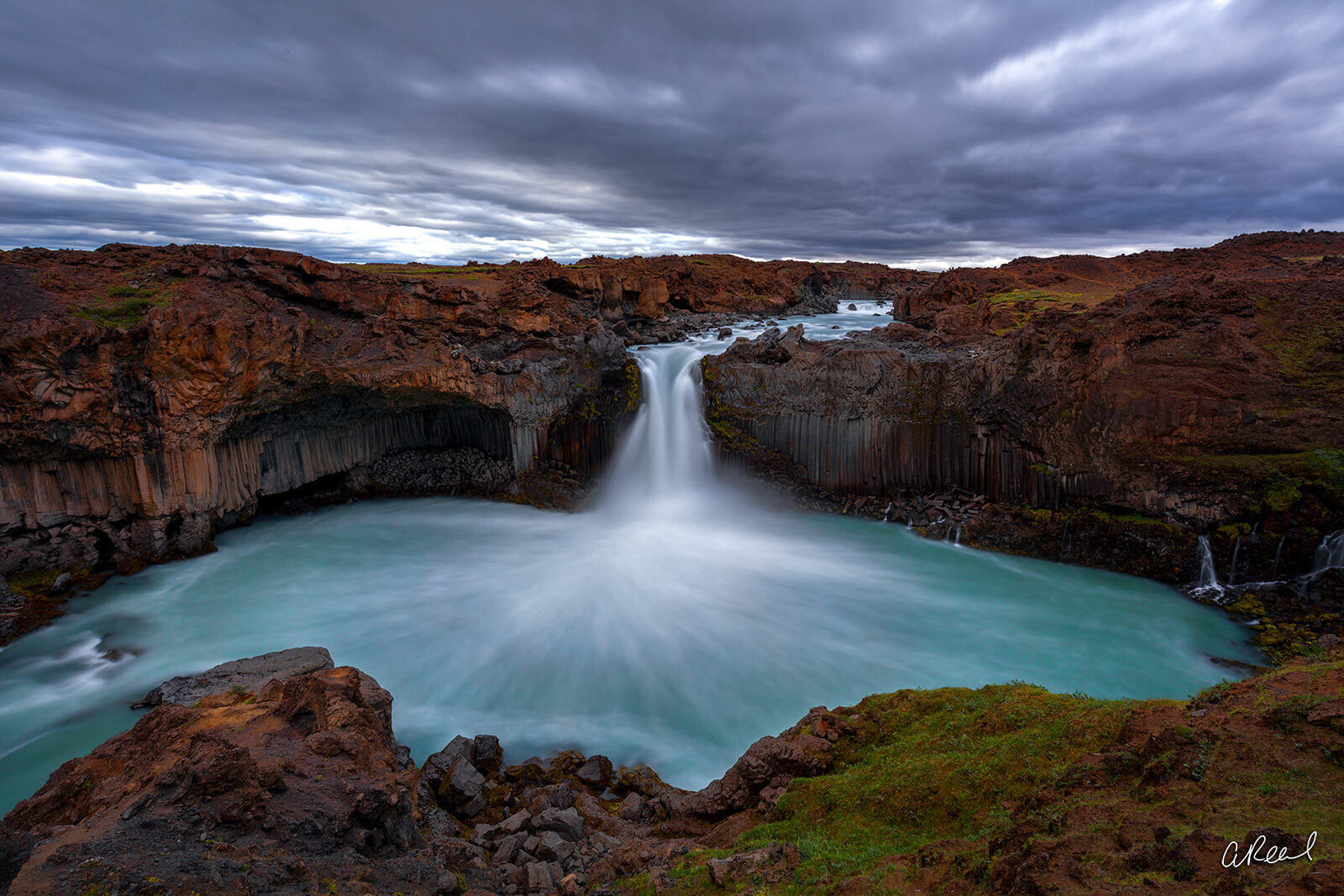 Transform your space with Aaron Reed's limited edition photography print, Basaltic, from his Iceland Nature Photography collection...