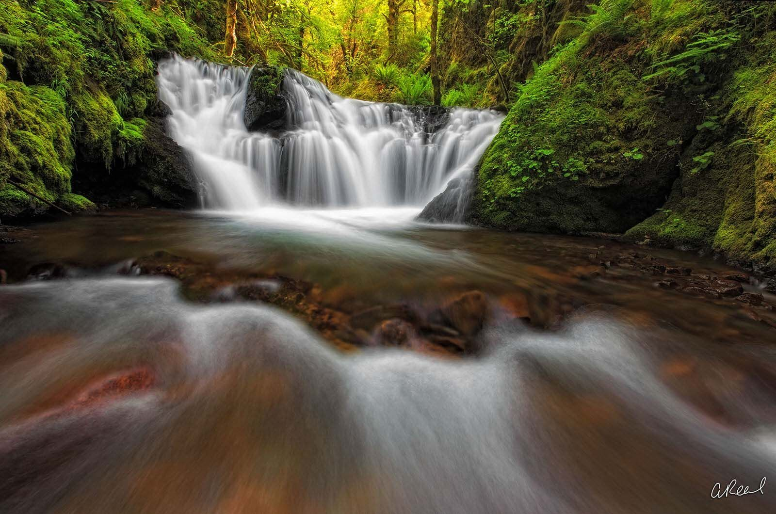 Create a window into nature with Aaron Reed's fine art photography print, The Wishing Well, from his world of waterfalls collection...